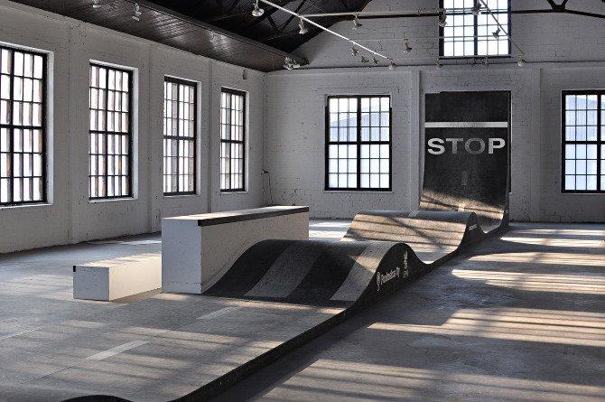Completed in 2011 in Fiskars, Finland, Striitti is an indoor skatescape.  Photo 5 of 7 in Janne Saario's Modern Skate Parks