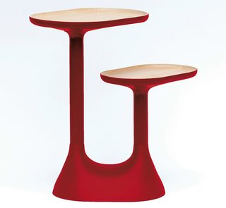Product Spotlight: Baobab Coffee Table - Photo 1 of 2 - Available in gray and red. Photo by: Benjamin Graindorge