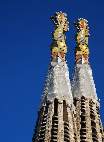 The towers of Sagrada Família. Photo by: MarcelGermain