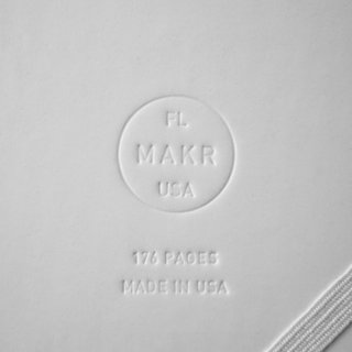 Product Spotlight: Sketchbooks by Makr - Photo 3 of 4 - The company's embossed logo discreetly lounges in the back.
