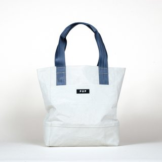 The Archivist tote ($124) by People for Urban Progress is handmade from textiles recycled from Indianapolis infrastructure, including the roofing fabric of the RCA Dome.
