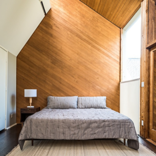 Photo of the Week: Angled Wood Bedroom