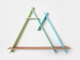 Product Spotlight: A-Frames by Chiaozza - Photo 3 of 5 - Twin Peaks in Icy Blues and Greens, $200