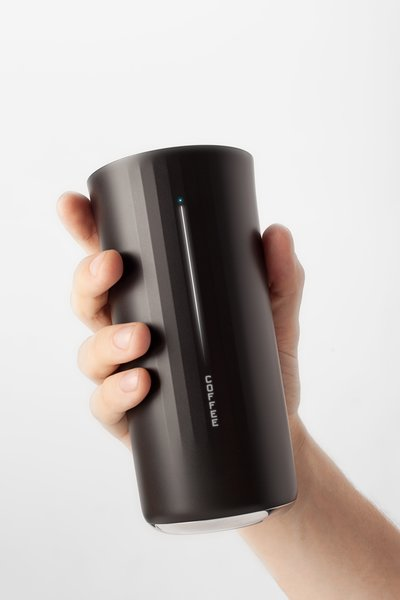 The cup's 13-ounce interior tracks your consumption and issues suggestions accordingly—for example, once you input your height, weight, gender, and other metrics, the Vessyl will tell you how much water you need for a day's worth of hydration. If you're hitting the soft drinks, it'll show how much sugar you've consumed as well.