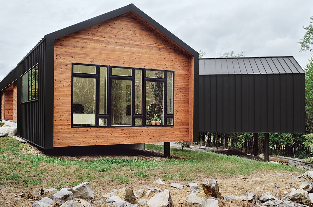 Photo 4 of 8 in the modern home with southern charm dwell for Metal wood siding