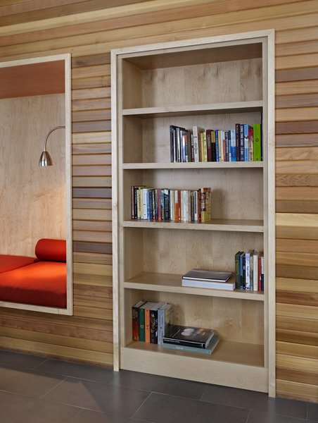 At first glance, this bookshelf looks like a completely normal built-in...