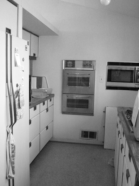 The original kitchen in the 1950 home was cramped and dingy, forcing architect Janet Bloomberg to reimagine the space and open it up to the rest of the living area.