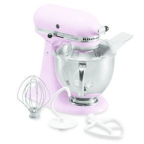 KitchenAid Stand Mixer   Although a classic stand mixer is nothing new, the Cook for a Cure version is part of KitchenAid's pledge to donate a minimum of $450,000 to breast cancer research through Susan G. Komen for the Cure. $350  Pastel Picks for the Kitchen by Olivia Martin