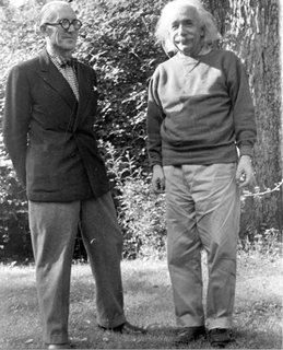 Le Corbusier: The Most Stylish Architect in History - Photo 5 of 7 - Not easy to make a fellow genius look like a schlub, but double-breasted beats sweatshirt any day.