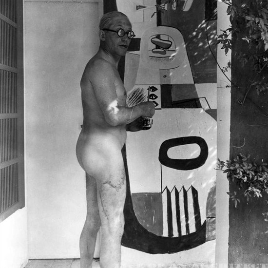 We should all look so good in the raw. Extra points for that curvilinear scar. Guy was modern through and through.  Photo 7 of 7 in Le Corbusier: The Most Stylish Architect in History from Most Stylish Architect in History: Le Corbusier