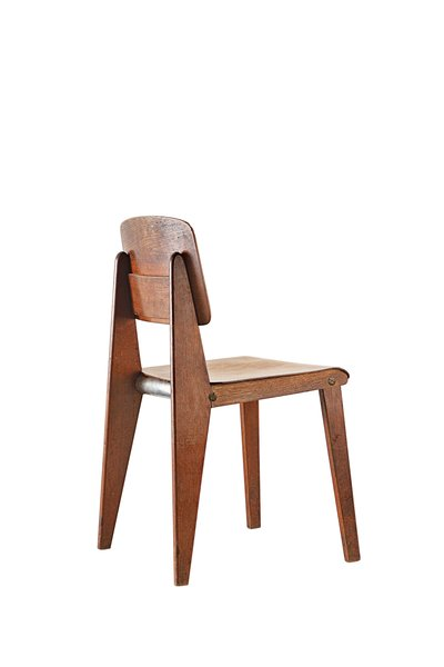 "The Demountable chair CB22 resembles Prouvé's Standard chair from 1930 quite closely. Gallerist and collector Patrick Seguin relates this era of industrial design to Prouvé's similar efforts in prefab architecture: ""Like his houses, kit-manufactured and ready to be inhabited, this piece [CB22] seemed utopian back then. Today it looks like an ideological, social, and political future."""