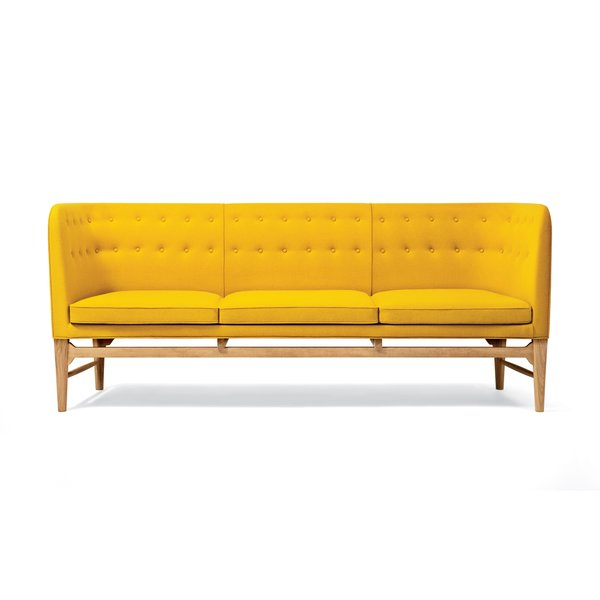 Mayor Sofa by Arne Jacobsen  Jacobsen designed this canape in 1939 for the city hall in Søllerød, Denmark, and it has never been produced for the retail market. Its Danish modern form is updated with bright yellow upholstery (though it's also available in gray and black for the less adventurous). $6,495