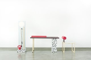 Workspace Workout Furniture by Darryl Agawin - Photo 4 of 4 - The complete excercise set includes a balance board, step, weight bar, skip rope, and kettle ball. Click here to see it in action!