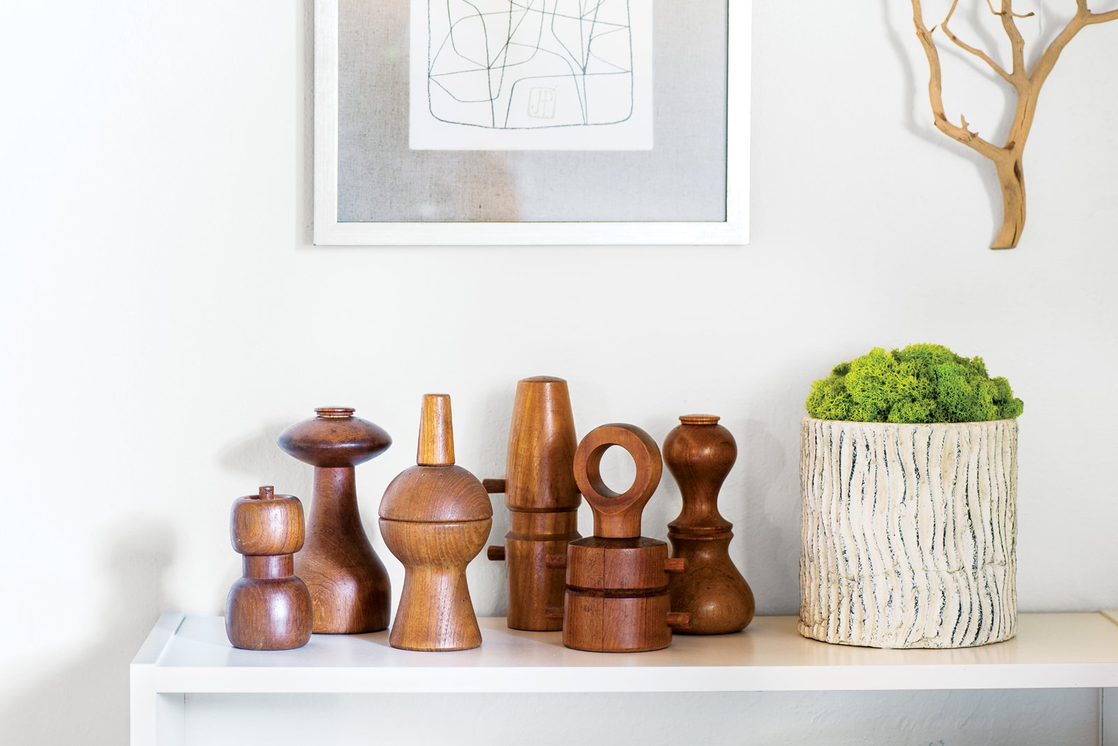 Neely has been buying Dansk pepper grinders at antique shops for the past ten years. Tagged: Living Room and Console Tables.  Photo 5 of 15 in Modern Furniture Fit for a Classic Eichler