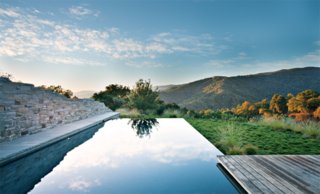 Landscape Architect Bernard Trainor - Photo 1 of 1 - Bernard Trainor collaborated with architect Peter Bohlin for a pool design in the Santa Lucia Preserve. Photo by: Jason Liske. Published in the April 2013 issue of Dwell.