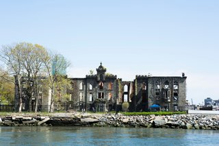 Around Manhattan Architectural Boat Tours by AIA New York - Photo 7 of 13 - Plans are underway to stabilize the landmarked Gothic Revival style Smallpox Hospital on Roosevelt Island.