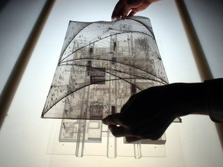 Never Built: Los Angeles at A+D Architecture & Design Museum - Photo 3 of 3 - In 2001, OMA and Rem Koolhaas proposed a translucent roof that would put all of LACMA under a single lid. It never happened. Image courtesy OMA.