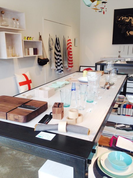 The shop has an especially strong selection of tableware: glasses and utensils from Iittala, Hasami porcelain, and a bar board from Michigan designer Jose Regueiro are standouts.