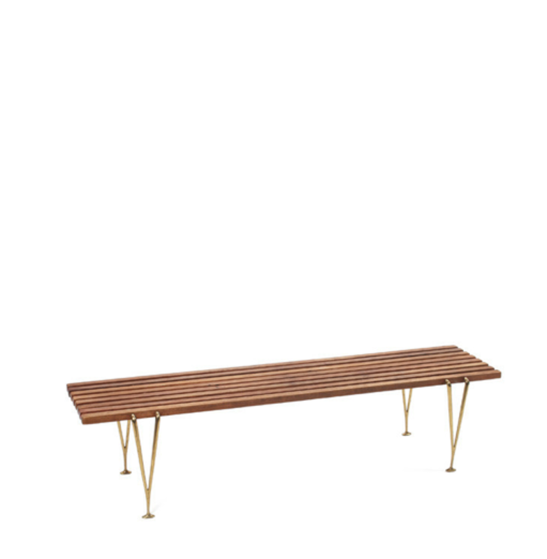 Hugh Acton's Suspended 50-inch bench is an especially meaningful furniture piece for Nora's co-owners.