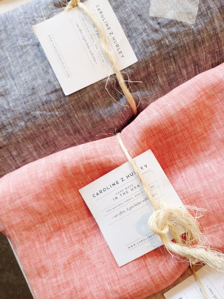 These linens are by Brooklyn-based designer Caroline Z. Hurley.