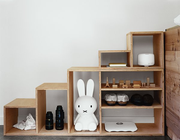 The built-in storage holds 30 pairs of Kiyoko's shoes.