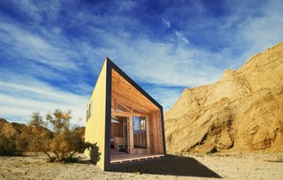 7 Glorious Golden State Prefabs - Photo 5 of 7 - The Wedge is among the new cabin designs that will eventually be integrated into California State Parks.