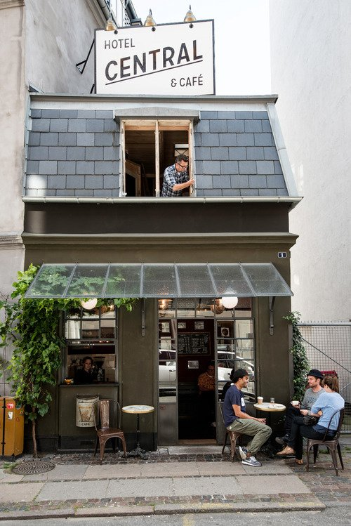 World S Smallest Hotel And Caf 233 In Copenhagen Collection