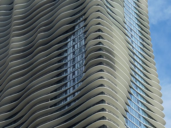 """""""We came up with the idea of creating a topography on the outside of the building, making the building into a landscape,"""" Gang says."""