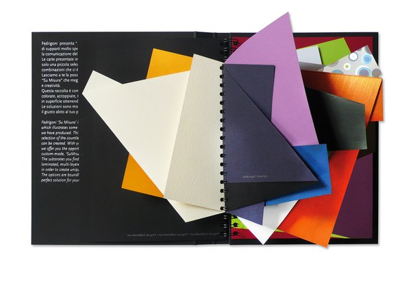 Limited edition Fedrigoni special papers sample book.