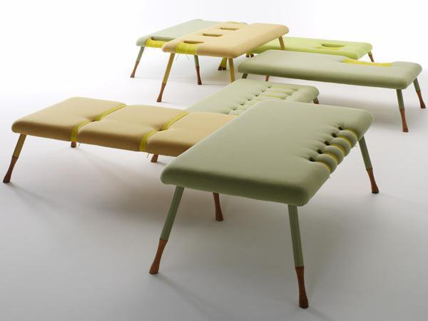 Loungescape<br><br>Sofa in seven parts. Can be placed in different ways according to the room and tied together. Nominated for Bo Bedre Design Prize 2005. Manufactured by Erik Jørgensen.