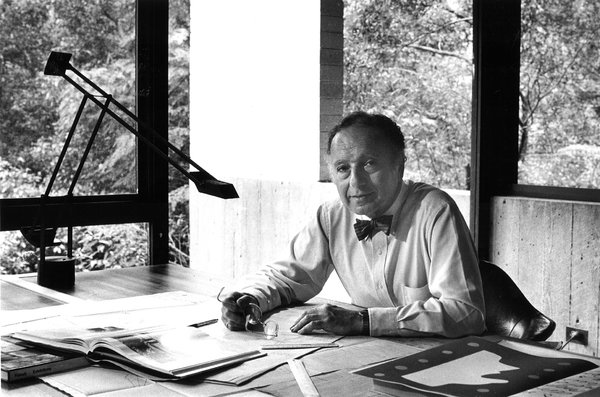 Harry Seidler at his house in Killara, Sydney. Photo © David Moore