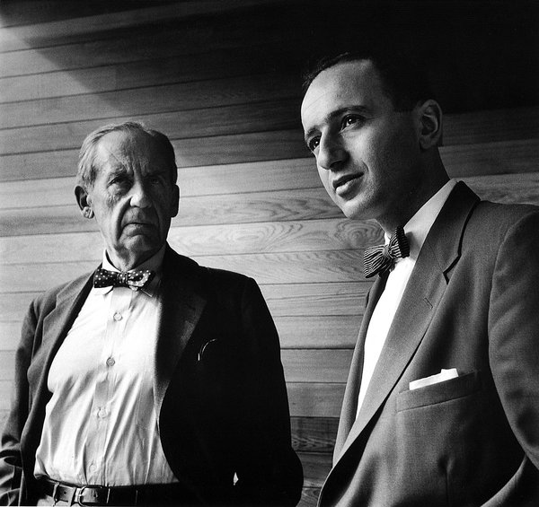 With Walter Gropius in Julian Rose House, Sydney, 1954. Photo © Max Dupain