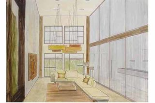 Designer Is In consult Fariba Haiem's sketch for a Venice live-work loft.