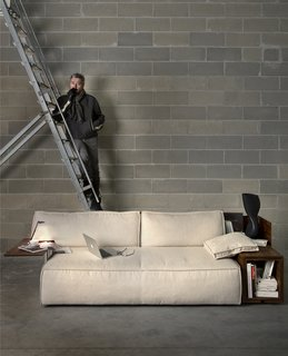 Philippe Starck with his MyWorld system. Photo provided by Cassina.
