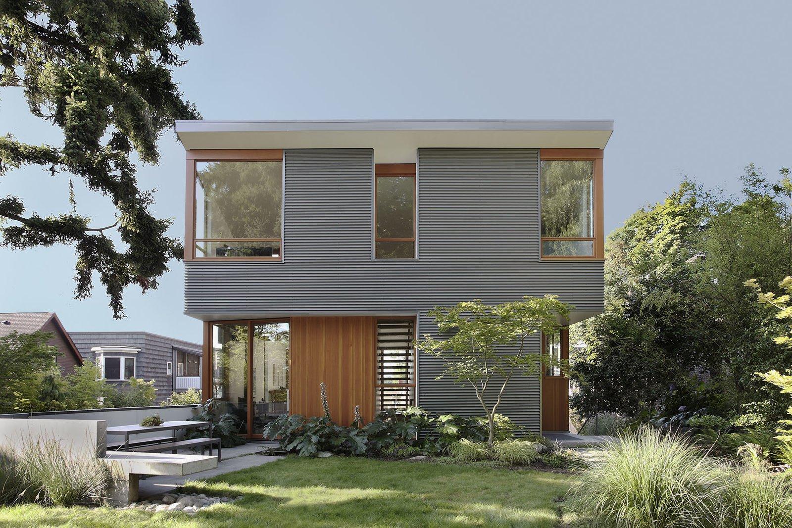 modern corrugated metal facades collection of 6 photosluke
