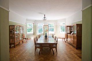 Art Nouveau Architect Henry van de Velde - Photo 4 of 4 - Hendy van de Velde's house, Hohe Papplin Haus in Weimar. Note the bowed out large windows, very Art Nouveau in design, that let in an abundance of natural light. Van de Velde designed the furnishings to match the shape of the room.
