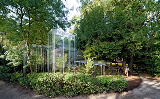 Junya Ishigami's Greenhouses at the Japanese Pavilion of the 2008 Venice Architecture Biennale celebrated architecture and landscape equally. Photo by Iwan Baan