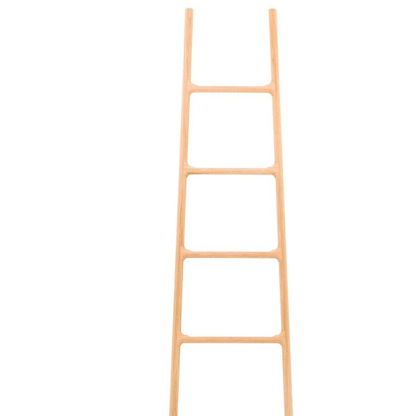 This wooden ladder by SmithMatthias isn't just a ladder––attach its accessories and it becomes a glove box or tray, without them it can be used as a coat hanger or towel rack.