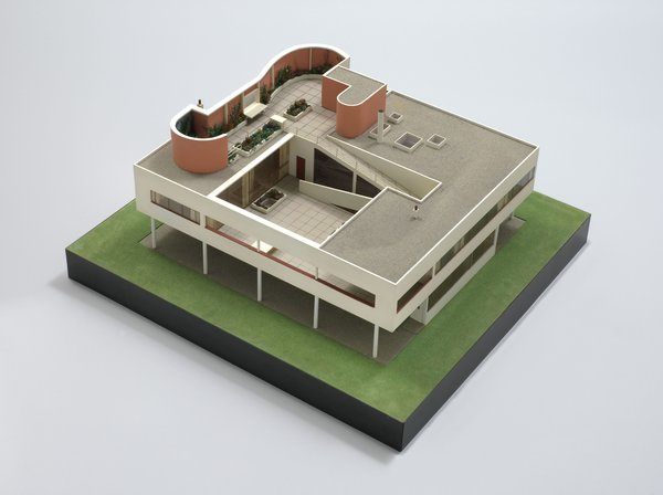 "Le Corbusier (Charles-Edouard Jeanneret) (French, born Switzerland. 1887-1965). Villa Savoye, Poissy. 1928-31. Model, 1932. Wood, aluminum, and plastic. 16 x 34 x 32"" (40.6 x 86.4 x 81.3 cm). Model maker: Theodore Conrad. The Museum of Modern Art, New York. Purchase. © 2013 Artists Rights Society (ARS), New York / ADAGP, Paris / FLC"