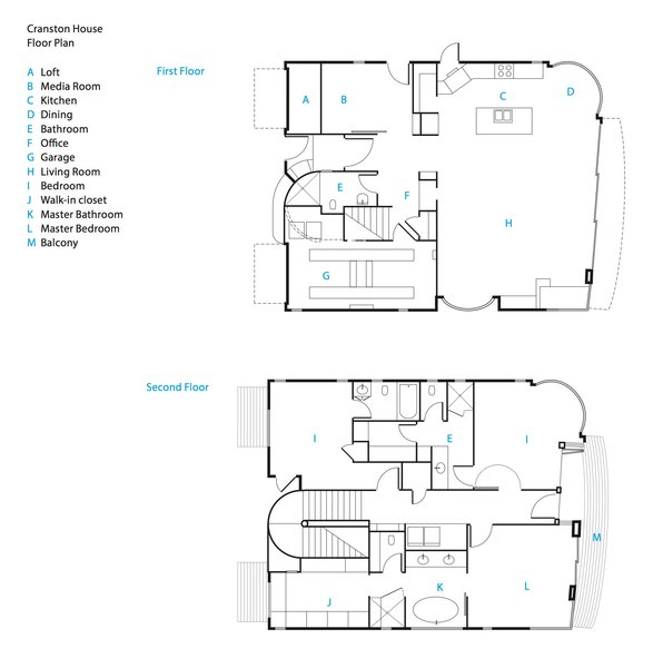 The renovated beach house's floor plans.<br><br>To learn more about the Cranston Residence project and its players, please visit www.3palmsproject.com