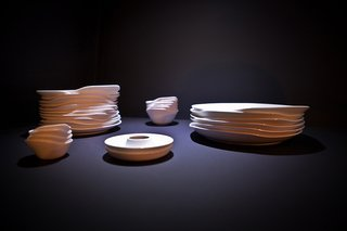Trained in the fine arts in Turkey and having worked for some time in Milan at the Fiat Advanced Design Concept Lab, Tamer Nakışçı of Studio/Nakisci presented his Relax tableware that generates a textural pattern when stacked. He also works across a broad range of design types from product design, conceptual projects and interactive installations to interior design and has earned him the Red Dot and iF product design Awards.