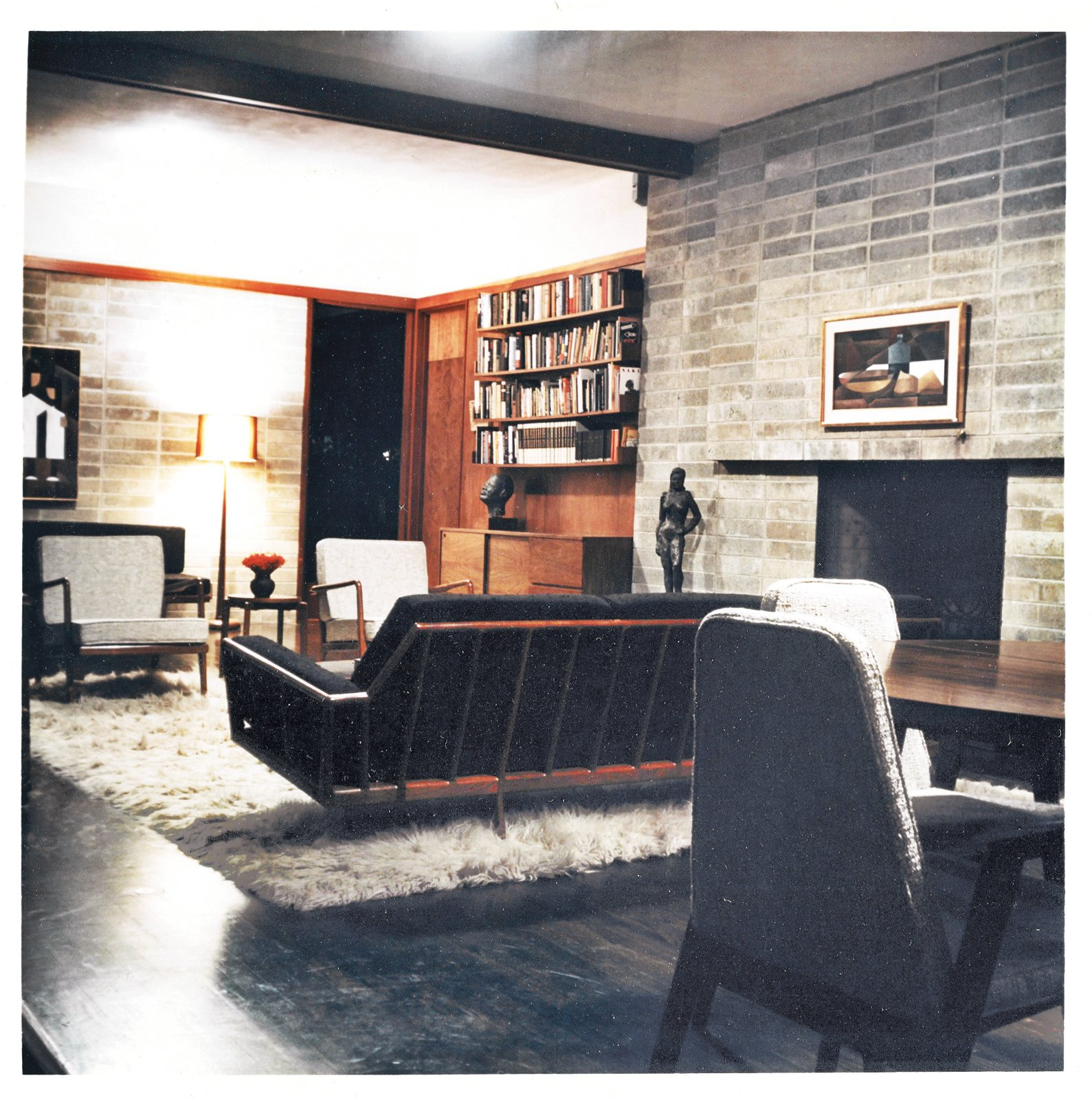 Smilow's house is located in Usonia, the Frank Lloyd Wright–designed community in Mount Pleasant, New York. The furnishings are all from Smilow-Thielle. Photo courtesy of the Smilow Family.  Midcentury Homes by Dwell from Mid-Century Designer Focus: Mel Smilow