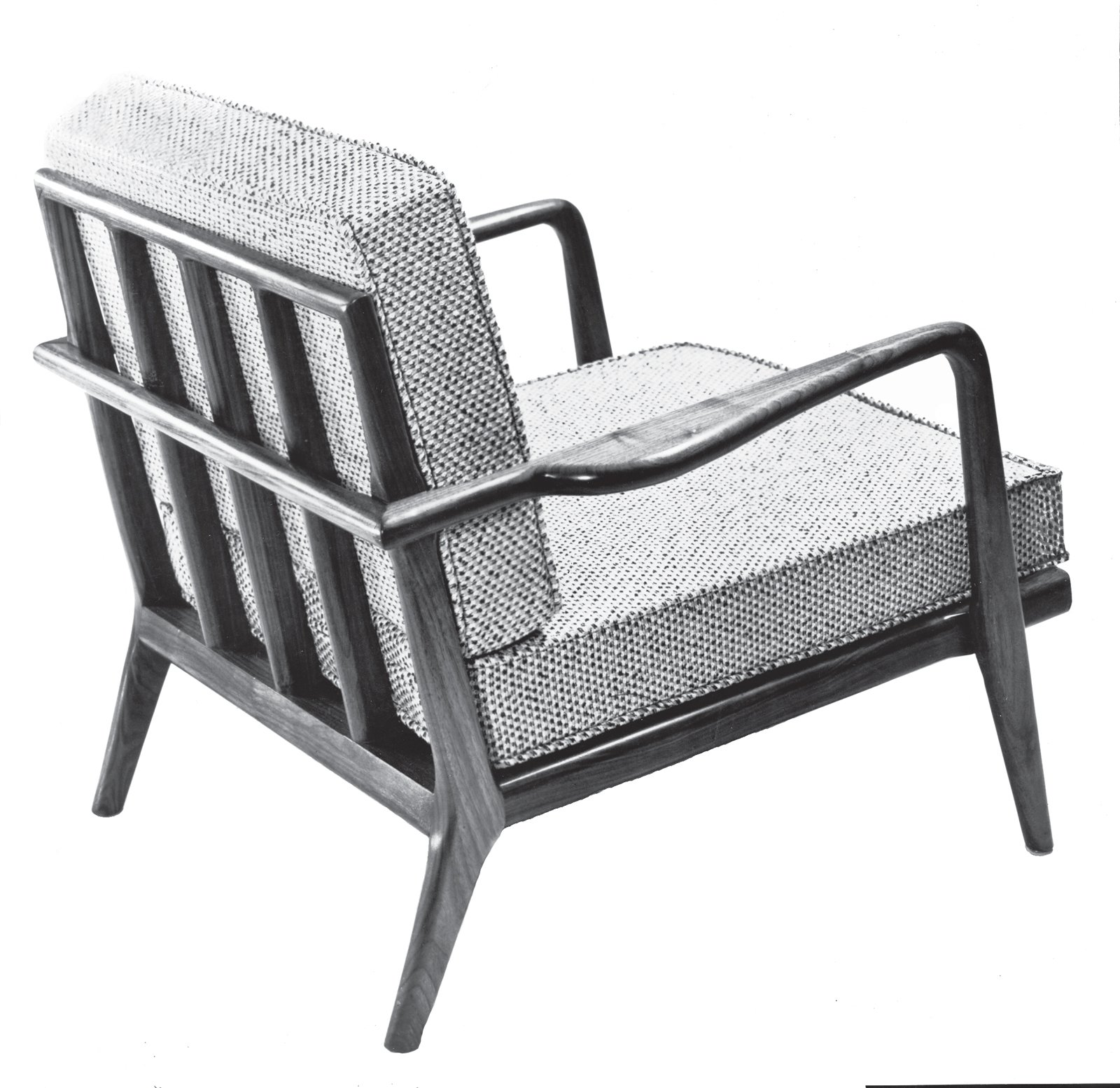 The WAC-33 Rail Back lounge chair featured removable cushion covers to enhance longevity. Reupholstering is expensive, so Smilow- Thielle designed covers to allow consumers to easily refresh the piece. Photo courtesy of the Smilow Family.  Photo 5 of 7 in Mid-Century Designer Focus: Mel Smilow