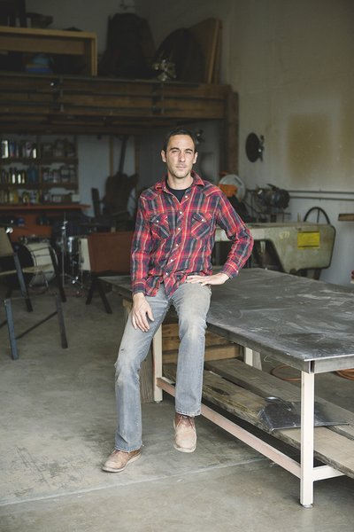 Tucson designers Cade Hayes and his partner Jesus Robles make their line of steel chairs by hand.
