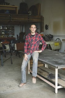 American Made Design: Dust - Photo 1 of 4 - Tucson designers Cade Hayes and his partner Jesus Robles make their line of steel chairs by hand.