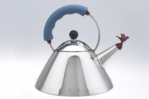 The Whistling Bird teakettle for Alessi is one of Graves's most famous works of industrial design.