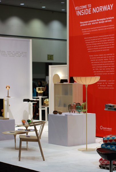 """Visit Insidenorway at Dwell on Design booth <a href=""""/discover/1301"""" target=""""_blank"""">#1301</a> to see goods from Røros Tweed, Stokke, VAD, Mandal Veveri and Variér in addition to 21 new prototypes by young and emerging designers in the exhibition """"The Essence of Things: New Designs from Norway"""" curated by Paul Makovsky, editorial director of Metropolis Magazine."""