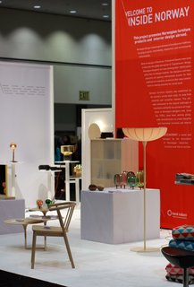 "Norway Represents at 2013 Dwell on Design - Photo 1 of 8 - Visit Insidenorway at Dwell on Design booth #1301 to see goods from Røros Tweed, Stokke, VAD, Mandal Veveri and Variér in addition to 21 new prototypes by young and emerging designers in the exhibition ""The Essence of Things: New Designs from Norway"" curated by Paul Makovsky, editorial director of Metropolis Magazine."