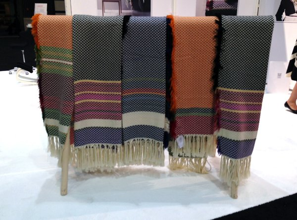 The Bunad blanket by Mandal Veveri features color ways based on Norwegian folk costumes from the 18th and 19th centuries.
