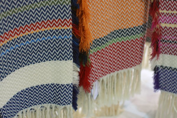 We love the rich color ways of the Bunad blankets from Mandal Veveri. Dwell on Design attendees can win one--follow @InsideNorway on Twitter for more info!